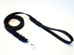 Läderkoppel, svart, 9mm x 120cm