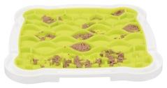 Lick 'n' Snack platta, TPR; 20 × 20 cm, aktivering genom att hunden slickar upp t.ex. färskoder, våtfoder, mjukost .