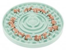 Lick 'n' Snack platta, TPR, ø 15 cm, tryck i färskfoder, våtfoder, paté, går bra att frysas in.