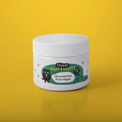 Glucosamine Pure Vegan, Vegetabiliskt tillskott för rörlig hund, 150g