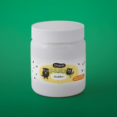 DioMin, Värdefullt vitamintillskott för en pigg hund, 200g, kompleterar fodret -förbättrar den totala kosten -vitaminer, mineraler och spårämnen -ren naturprodukt -helt vegetabiliskt