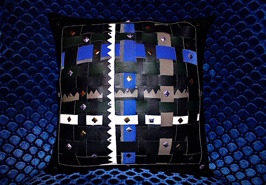 BlueLeather 30x30cm