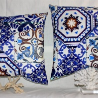 Blue Marocko pillows