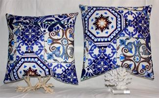 Blue Marocko pillows