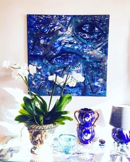 Blue Eye 90x90cm