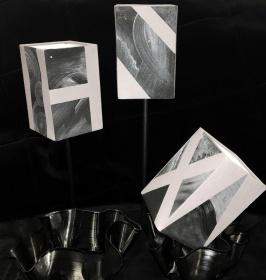 Silver lamps 15x10cm