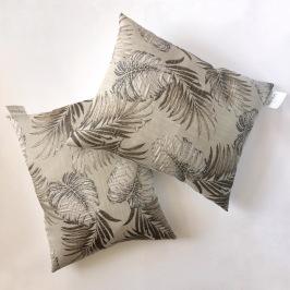 Golden palms pillows