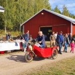Ordf. Stig Andersson på en annorlunda trehjuling