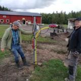 Stig och Arne vid det extra eluttaget