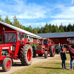 Traktorparad på museets dag