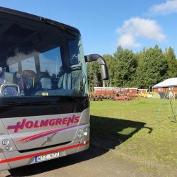 En av många bussar