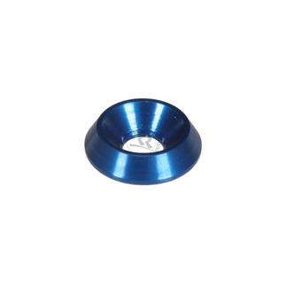 Försänkt aluminiumbricka 18x6mm - Blå
