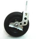 Polyuretanhjul med hållare och broms 220mm