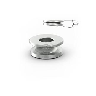 Kulleds-shims D.10mm/H.8mm 0-3° lutning