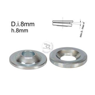 Kulleds-shims D.8mm/H.8mm 0-4° lutning