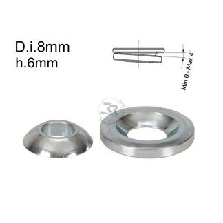 Kulleds-shims D.8mm/H.6mm 0-4° lutning