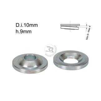 Kulleds-shims D.10mm/H.9mm 0-4° lutning