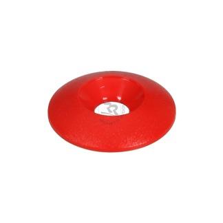 Försänkt plastbricka 6x25mm - Röd