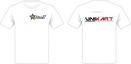 T-Shirt med 2 x 4 färgs tryck Dammodell