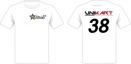 T-Shirt med 2 x 4 färgs tryck och startnummer Dammodell