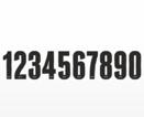 Siffror i svart med guld-kromkant