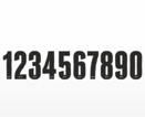 Siffror i svart med silvermosaik kant