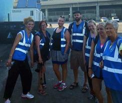 Några av våra volontärer i Aten