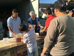Our volunteers serve tea in Pireus, Greece