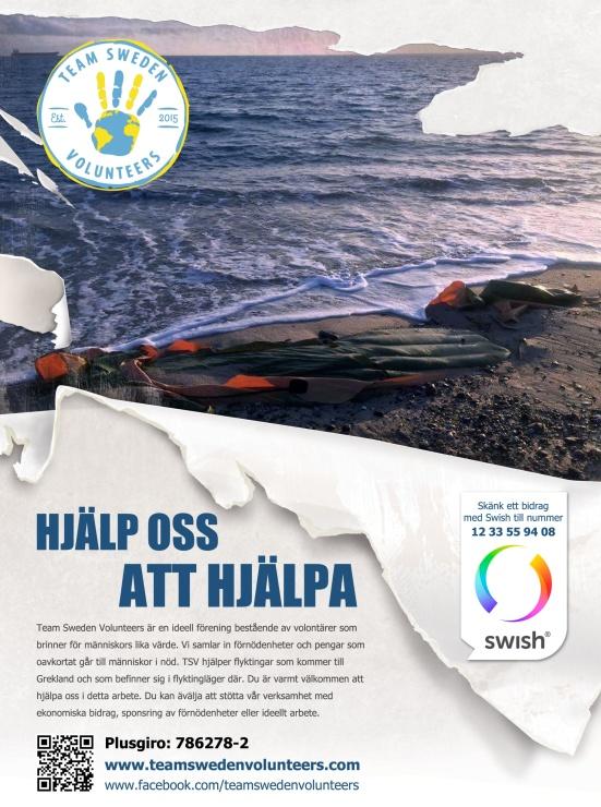 Team Sweden Volunteers poster 2019