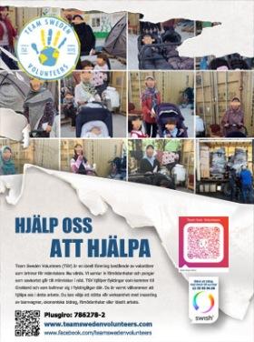 Team Sweden Volunteers poster 2020