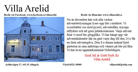 Villa Arelid Nyheter Nyhetsmail December 2016