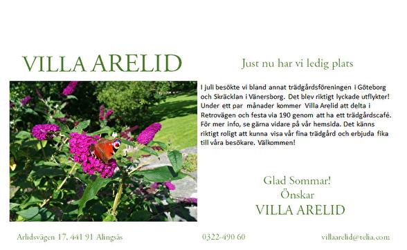 Villa Arelid Nyheter Nyhetsmail 2017 Augusti