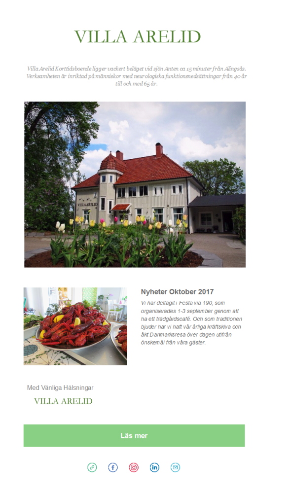 Villa Arelid Nyheter Nyhetsmail 2017 Oktober