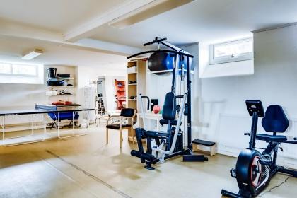 Gymmet  på Villa Arelid
