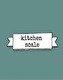 Kitchen scale 230g
