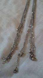 304 rostfritt stål komplett halskedja - 304 rostfritt stål. Nickelsäkra. Kompletta halsbandslänkar. 23,6cmx2x0,2mm