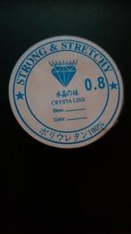 0,8 mm - Crystal tråd, klar och kraftig , 0,8 mm tjock , 5m / rulle