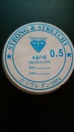 0,5 mm - Crystal tråd, klar och kraftig , 0,5 mm tjock , 8m / rulle