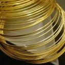 Steel memory wire, guldpläterad. 5,5x0,6mm. 50 varv