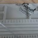 Pärlbricka med lock. 27 x 18 cm