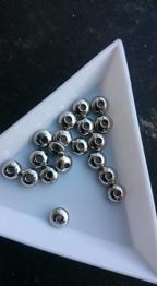 Abacus 30 pack - 304 rostfritt stål pärlor , Abacus , rostfritt stål färg, nickelsäker , 6x3mm , hål : 1mm. 20 pack