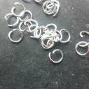 8 mm 1 mm tjock, silverpläterad