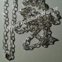 1 stk komplett armbandslänk silverpläterad