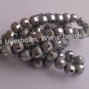 8-9 mm electropläterade frostade glaspärlor. Silver