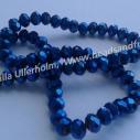 Fasetterad 8 mm, mörkblå