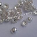 8 x 4 mm silverpläterade 10gram