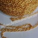 Guldpläterad, 3x2x0.5mm