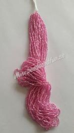 Rose Silver-Lined - Rose Silver-lined HSB/18275/  11/0 = 2,1mm. Ca 400 pärlor / sträng.