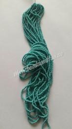 Green Turquoise Opaque - Green Turquoise Opaque HSB/63130/  11/0 = 2,1mm. Ca 400 pärlor / sträng.