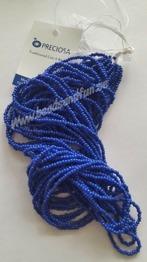 Royal Blue Opaque - Royal Blue Opaque HSB/33050/ 11/0 = 2,1mm Ca 400 pärlor / sträng.
